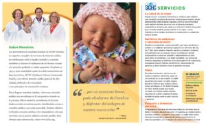 SICHC Women's Health Brochure in Spanish (inside)